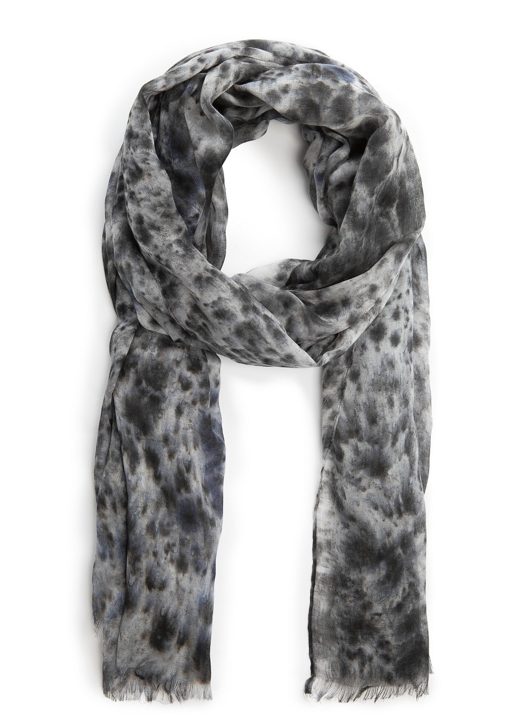 Marble print scarf