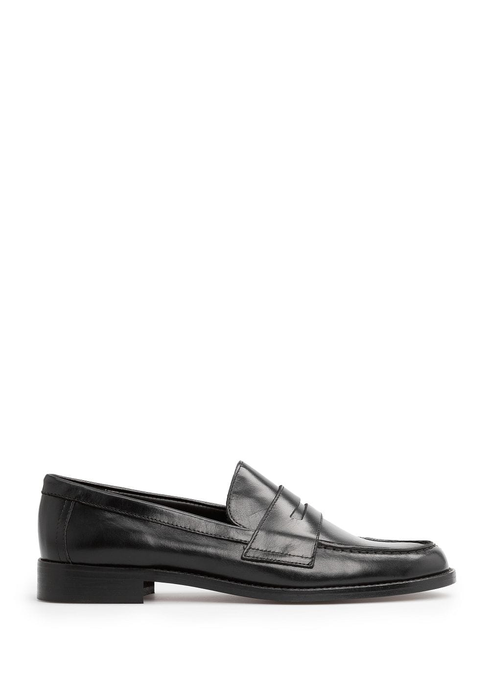 Leather penny loafers | VIOLETA BY MANGO
