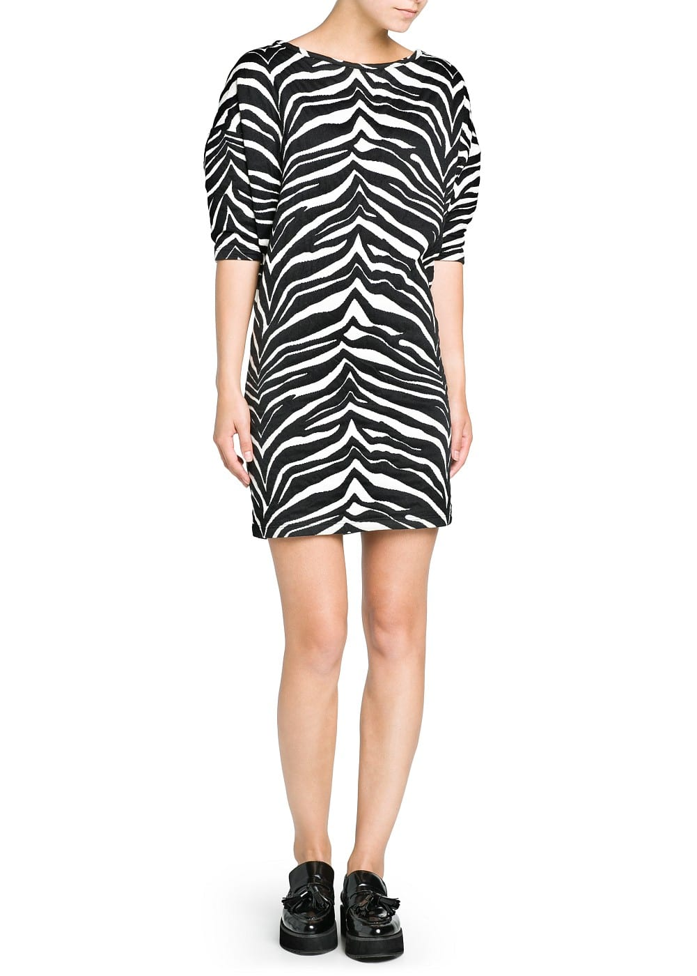 Zebra jacquard dress