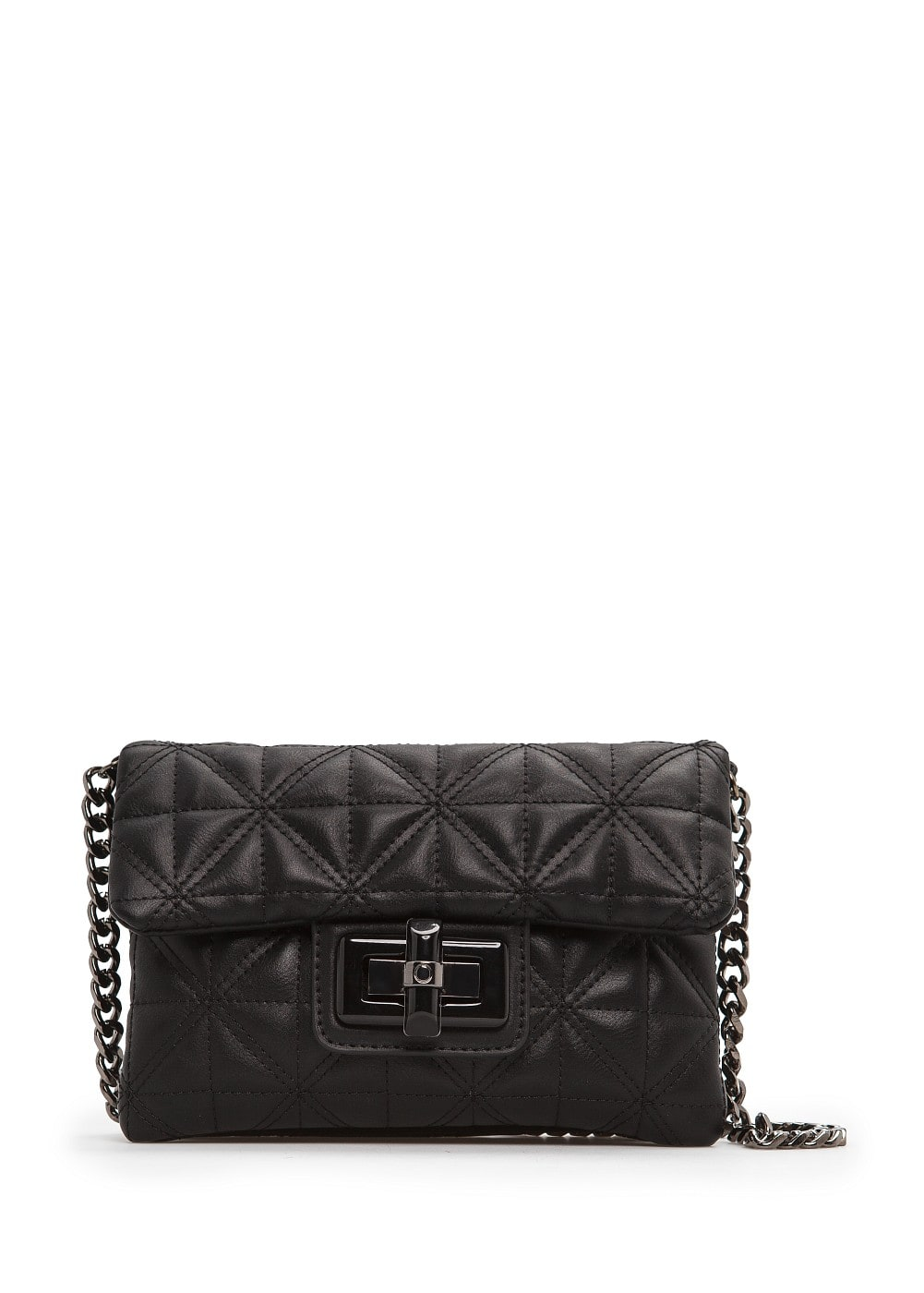 Quilted small shoulder bag
