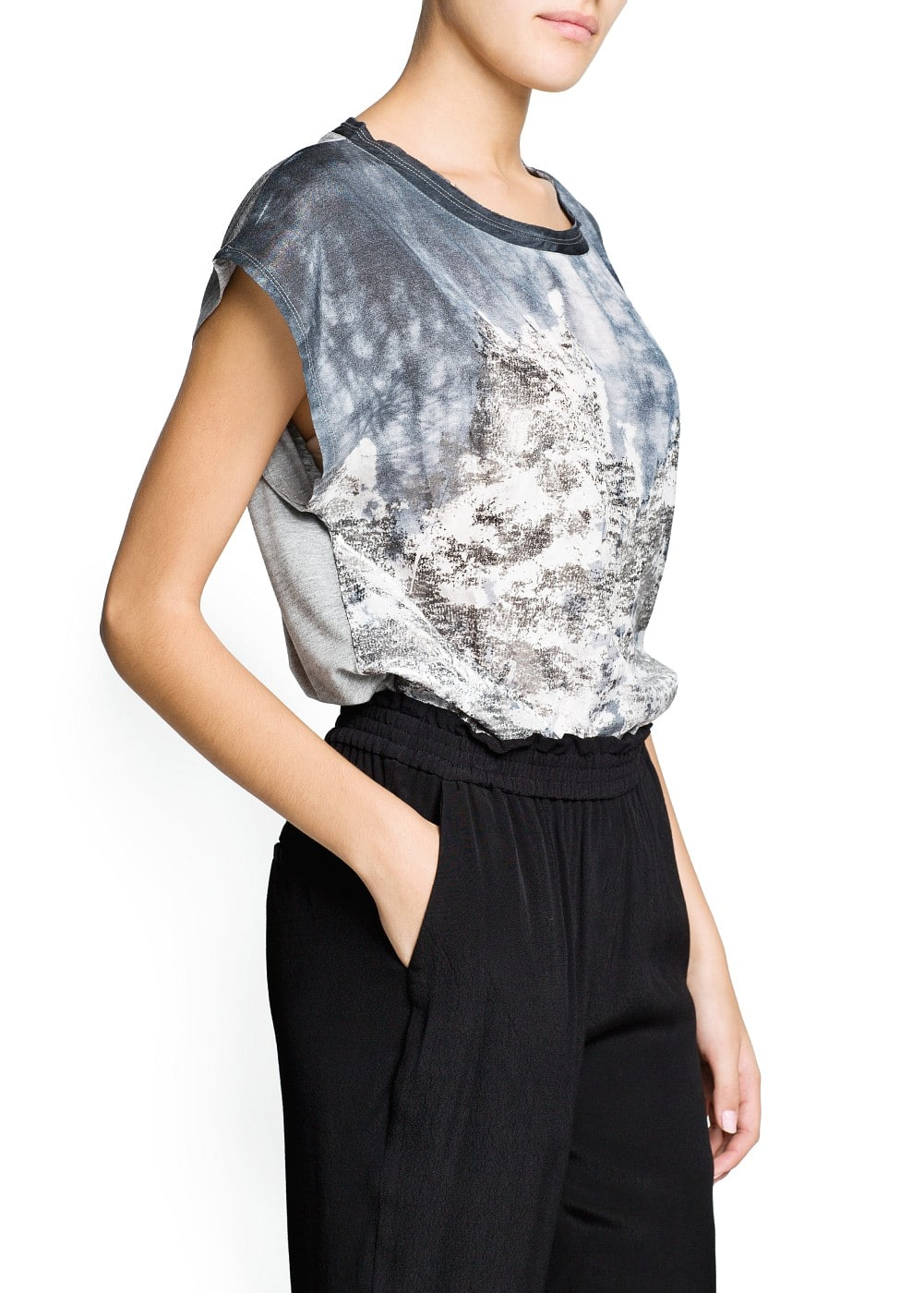 Metallic print t-shirt