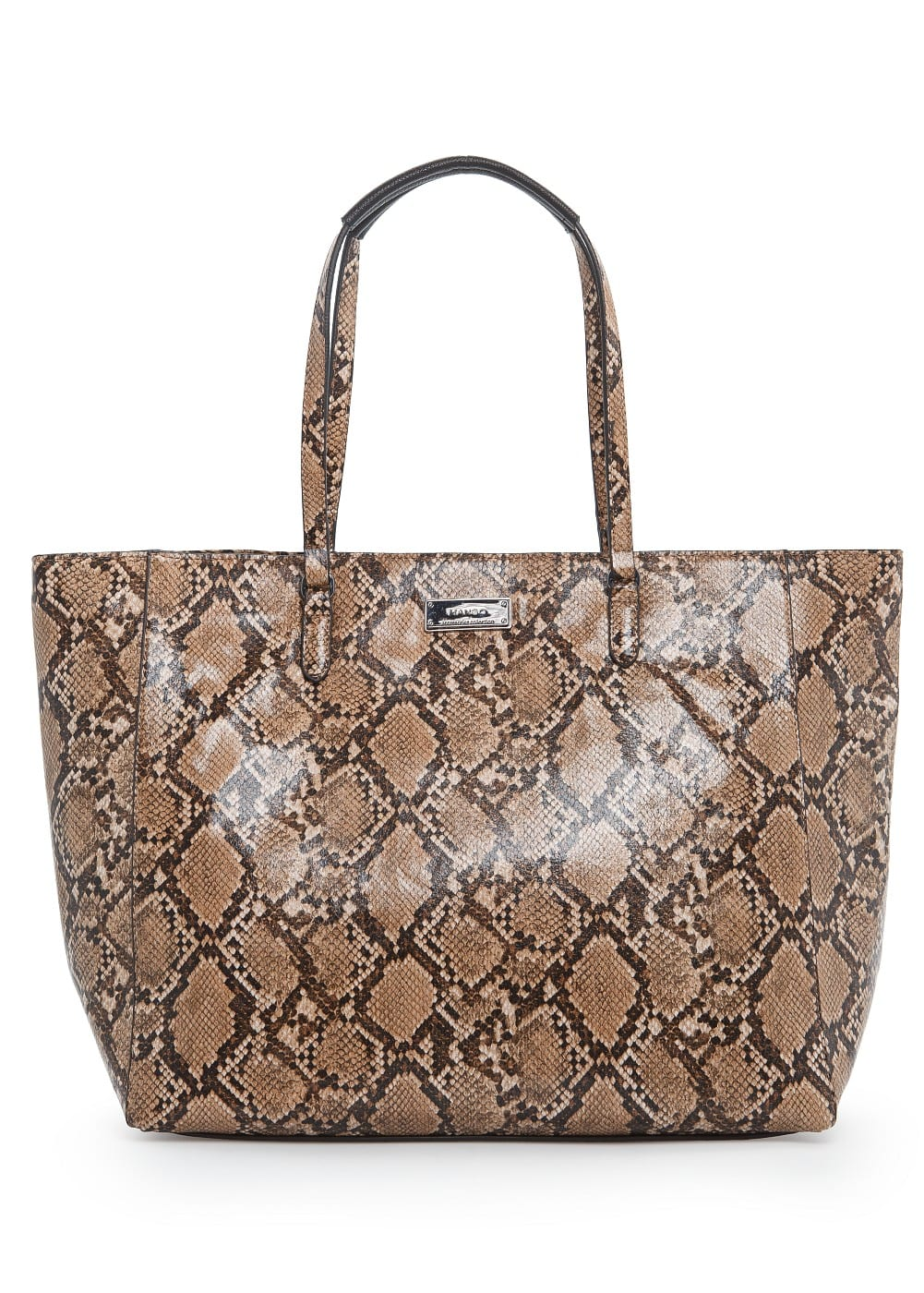 Faux snakeskin shopper bag | MANGO