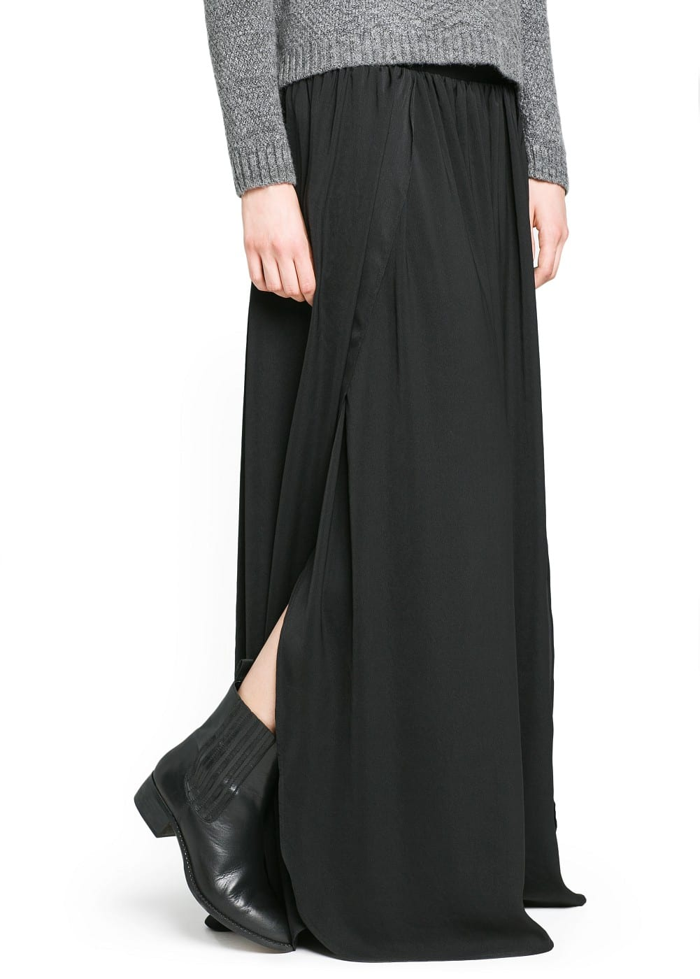 Side slit long skirt | MANGO