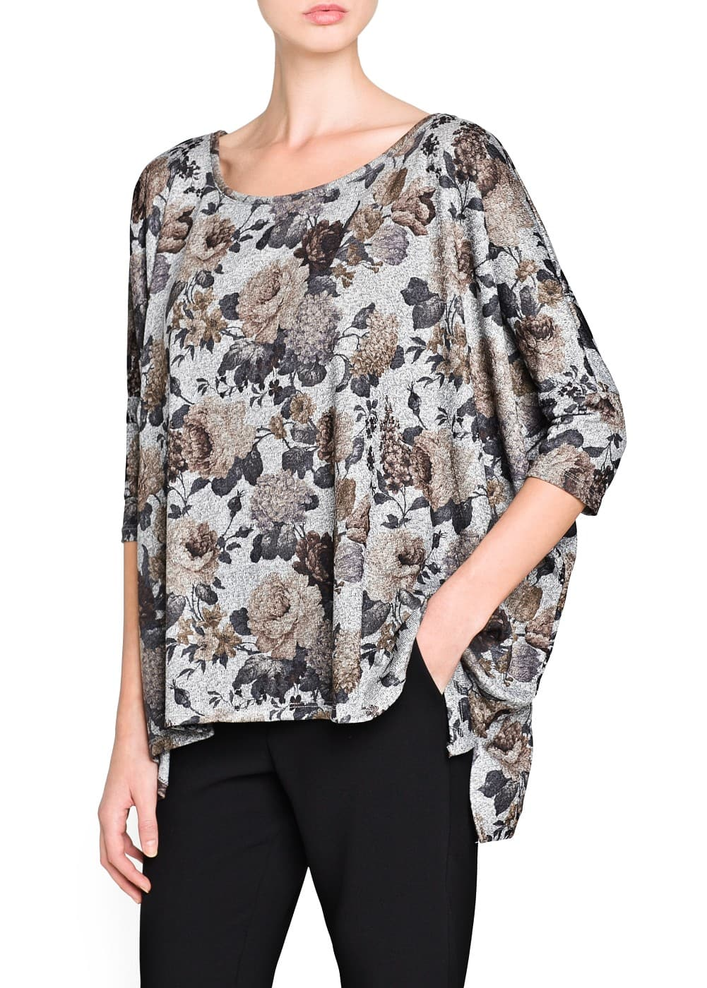Floral print oversize t-shirt