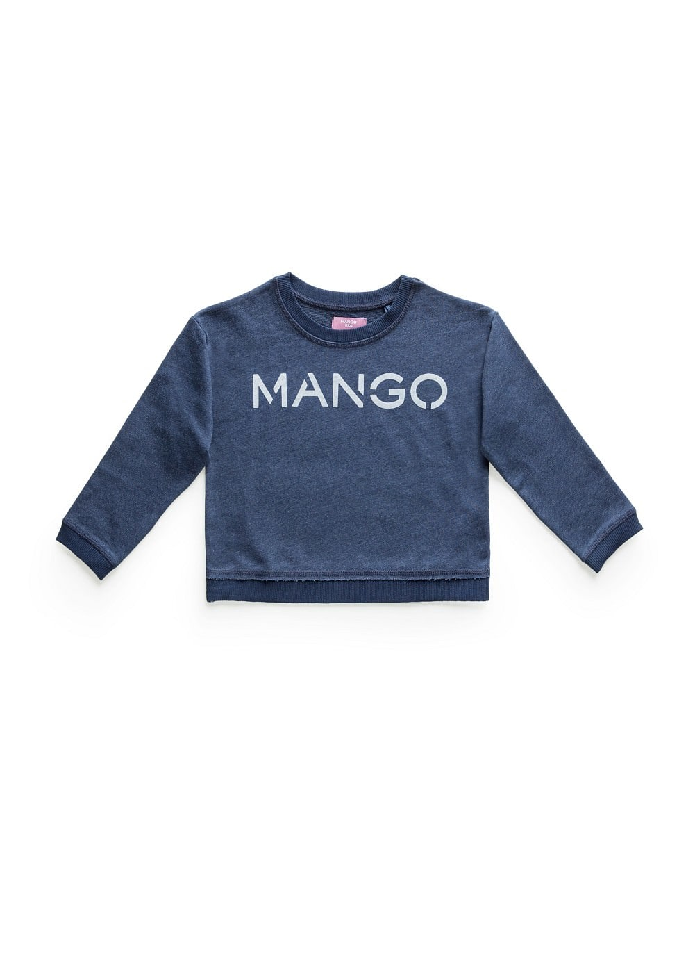 Cotton-blend logo sweatshirt | MANGO KIDS