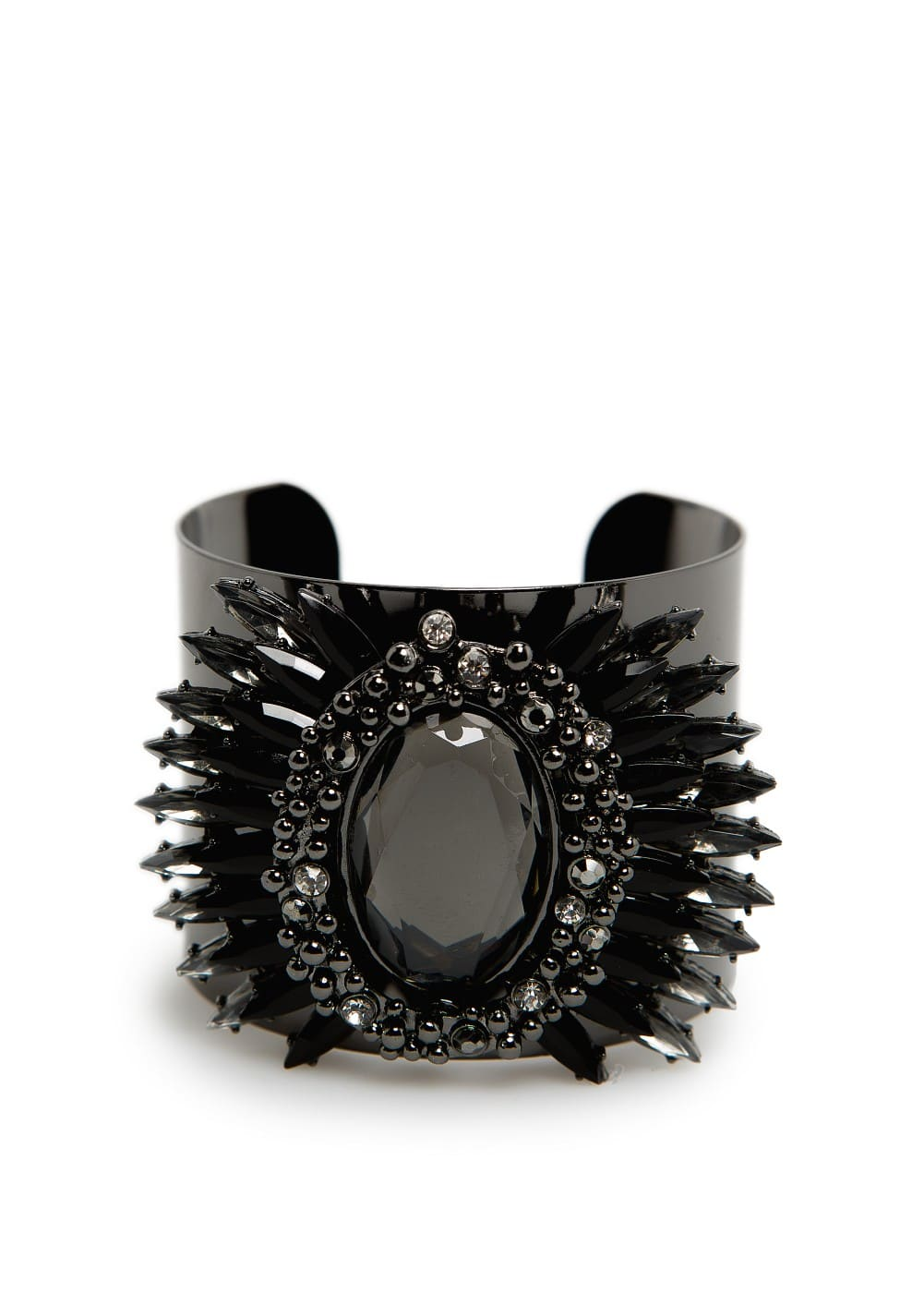 Faceted crystals wide cuff | MANGO