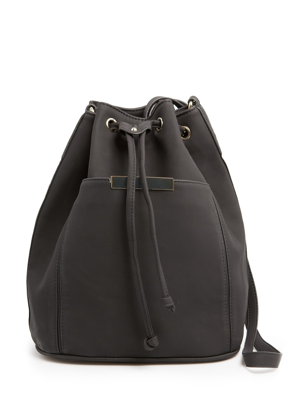 METAL DETAIL BUCKET BAG