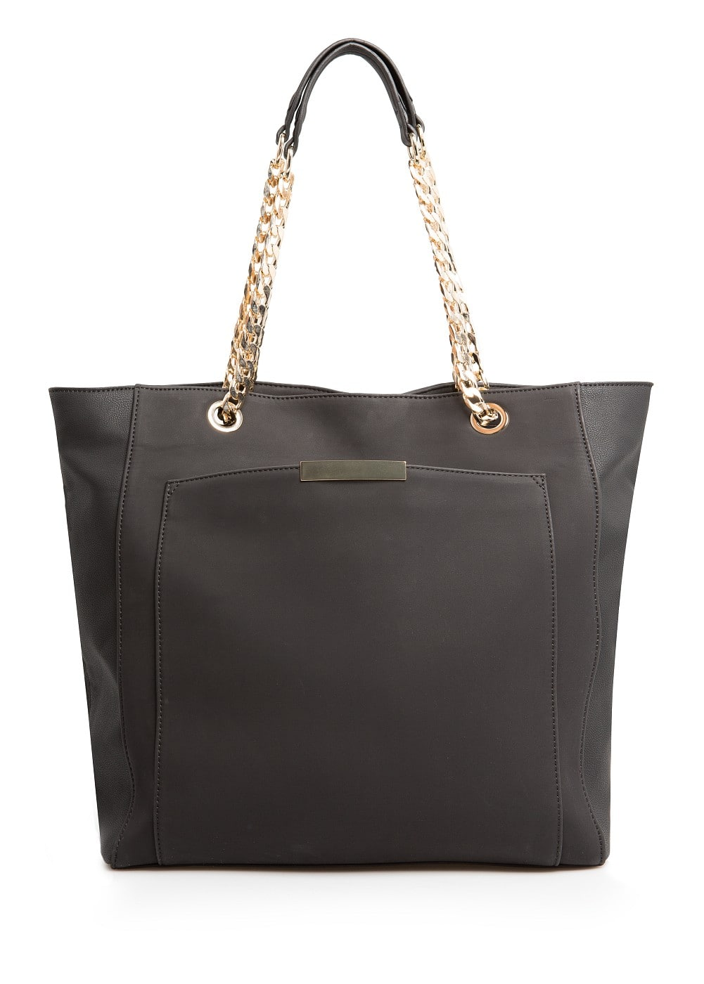 METAL DETAILS SHOPPER BAG
