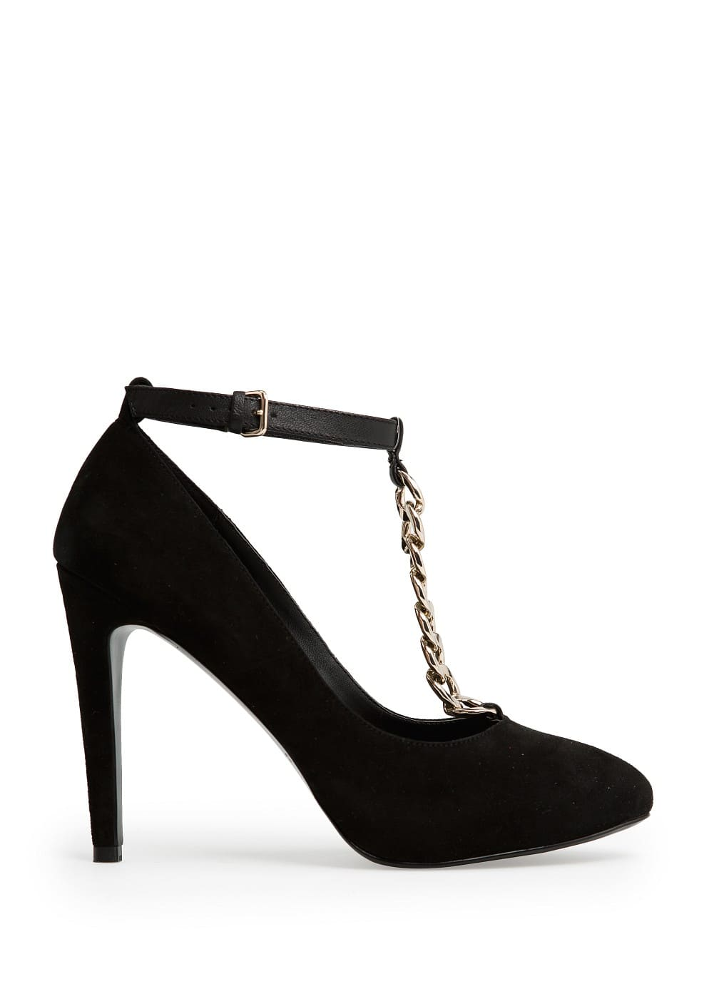 Suede chain shoes