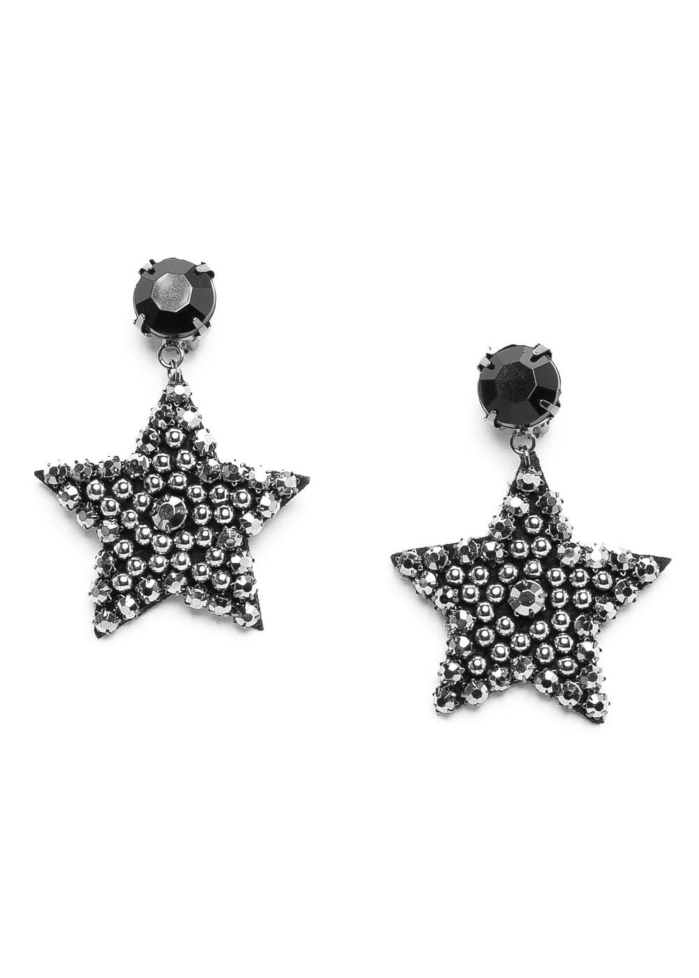 Star strass earrings | MANGO