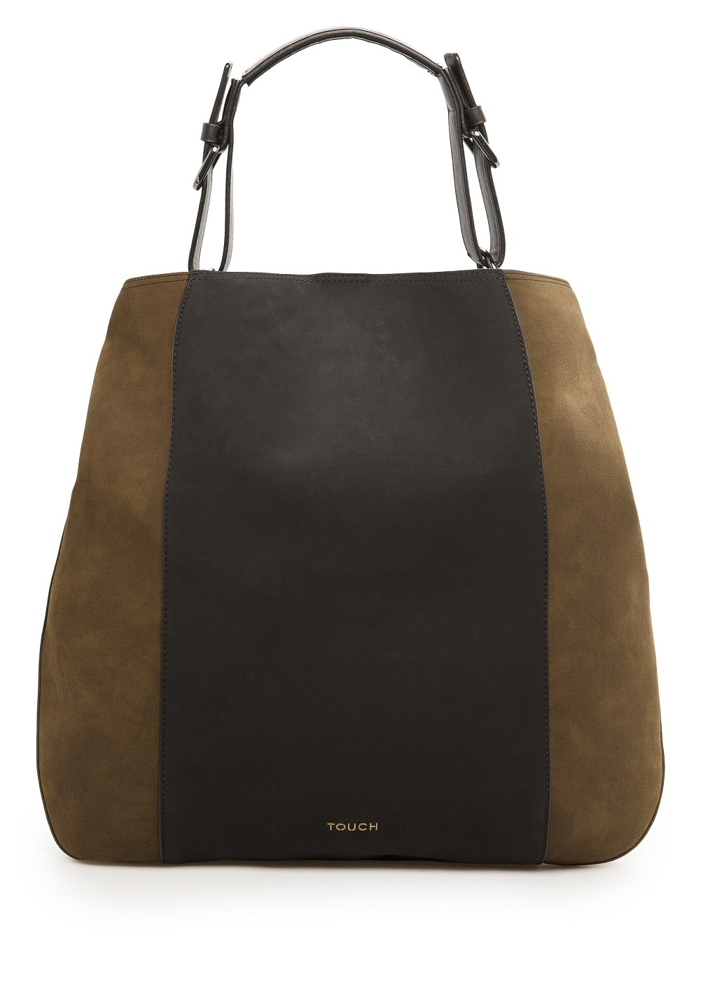 Contrast panel shopper bag