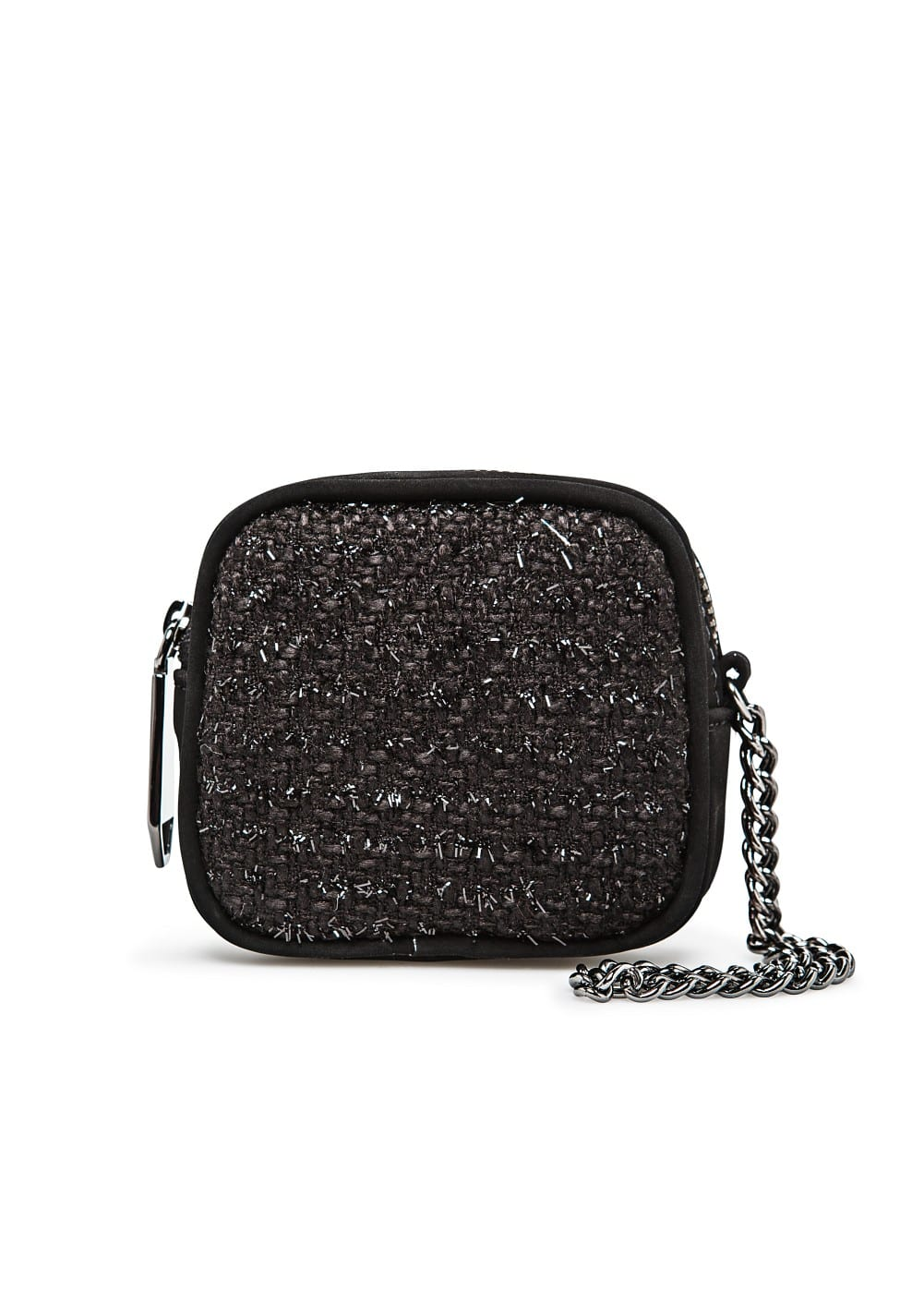 Chain boucle coin purse | MANGO