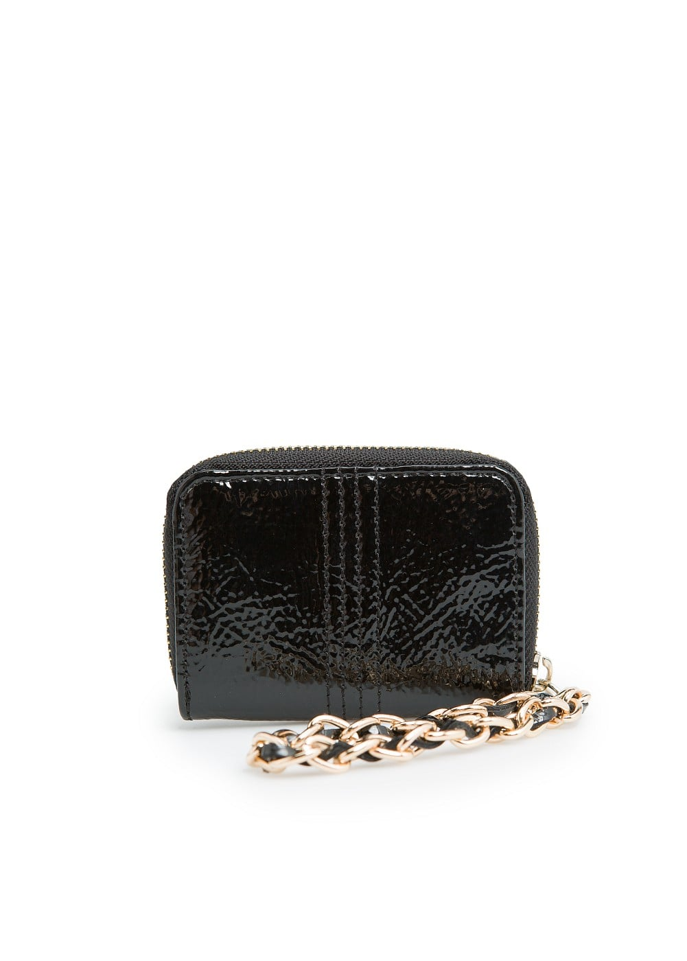 Chain patent coin purse | MANGO
