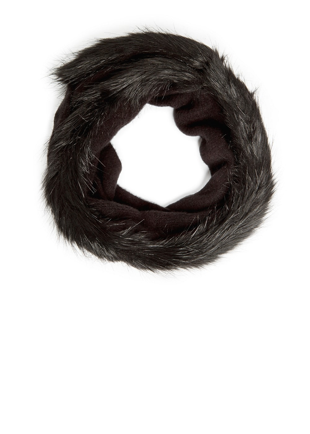 Faux fur edges snood