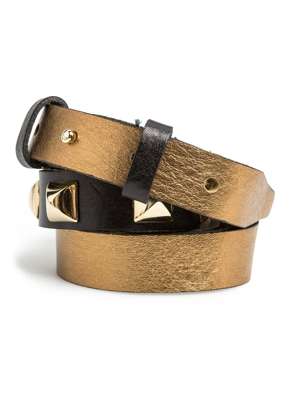 Combi leather belt | MANGO
