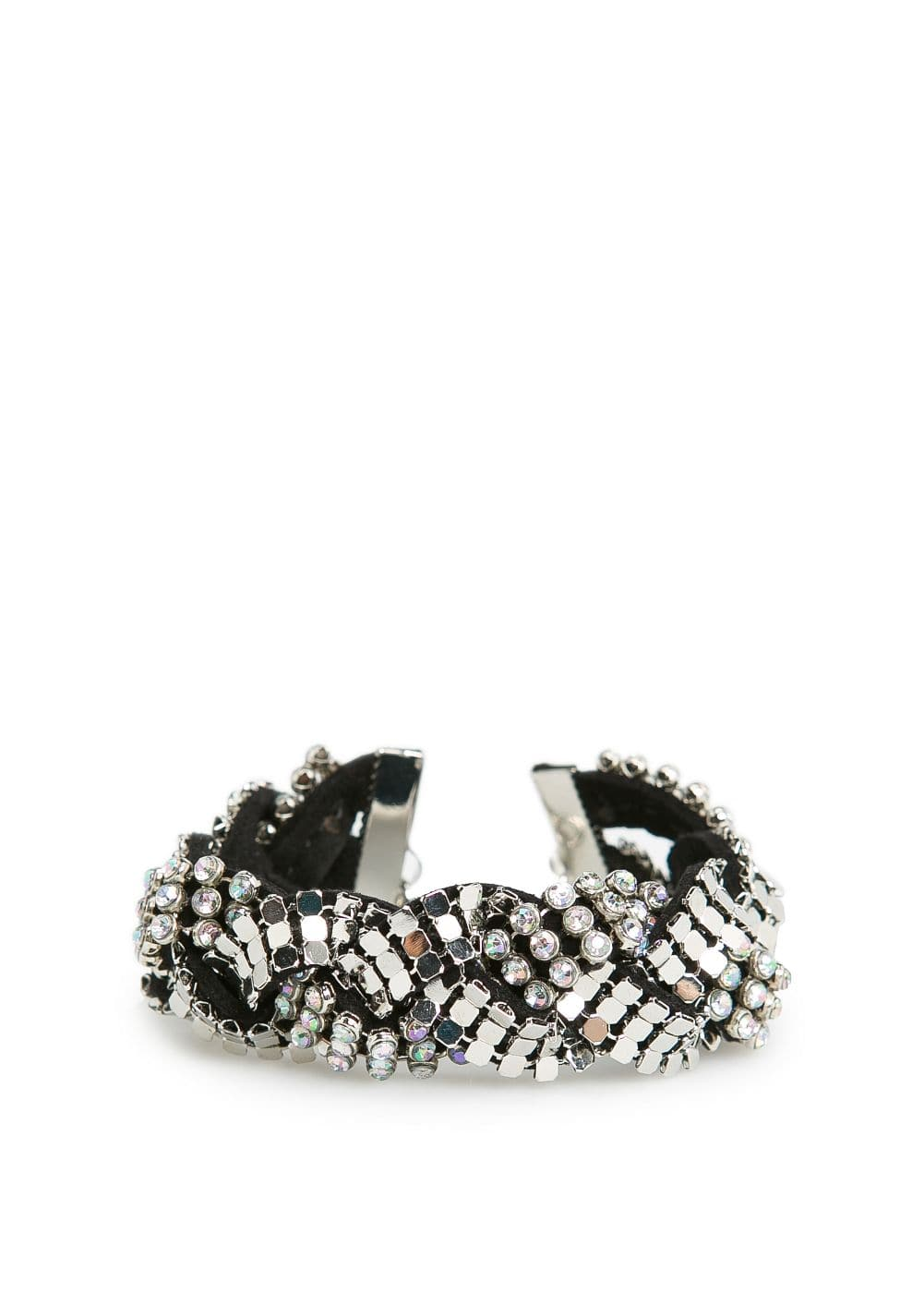 Braided strass bracelet
