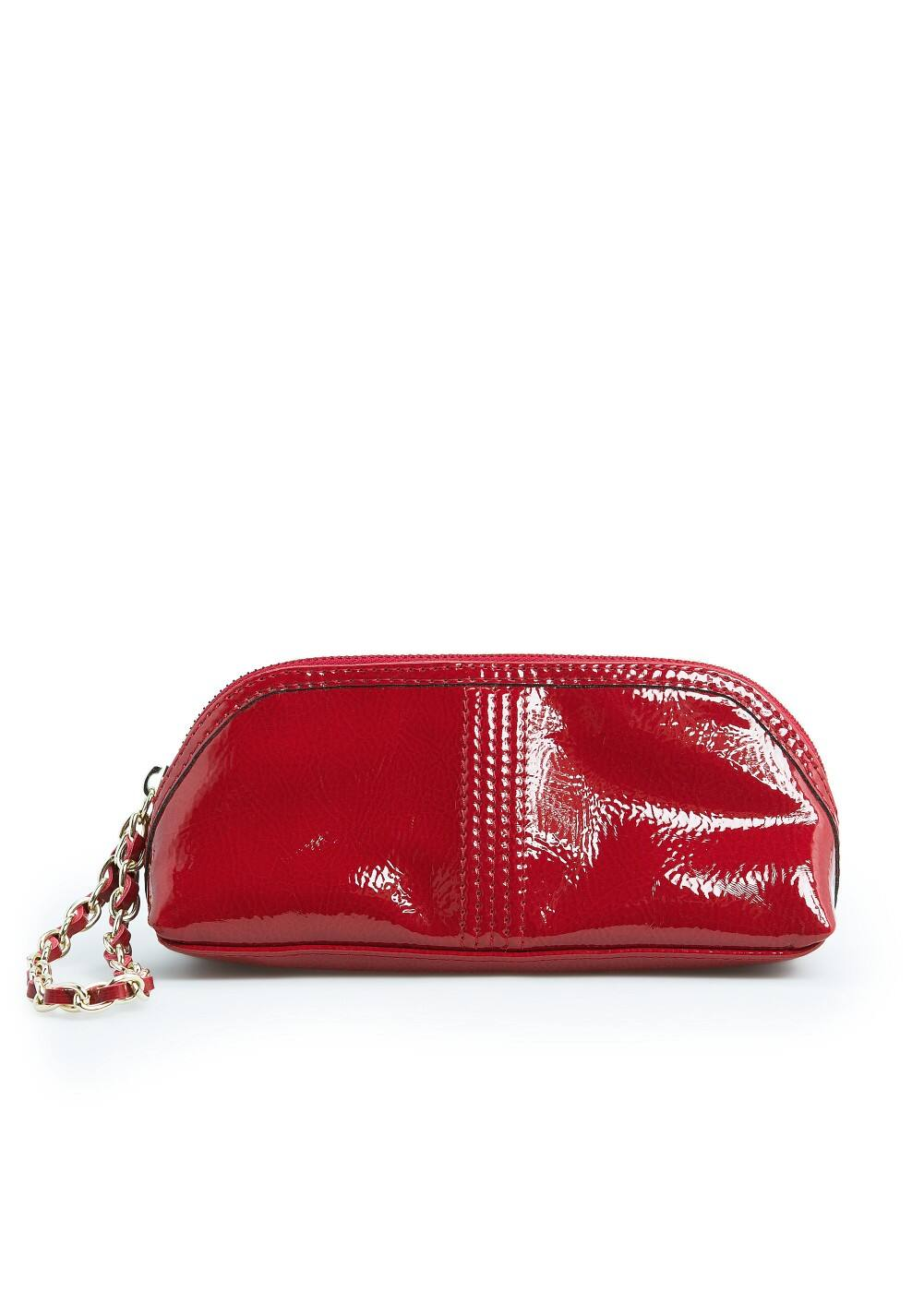 Chain patent cosmetic bag