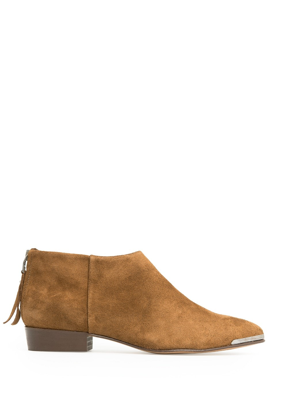 METAL DETAIL SUEDE ANKLE BOOTS