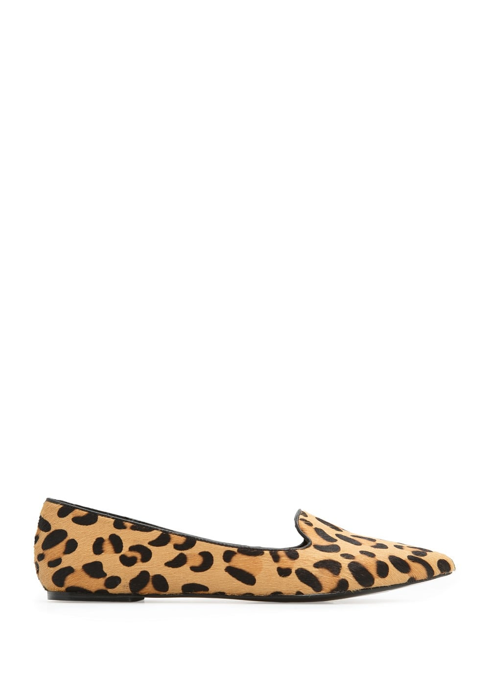 Leopard fur slippers