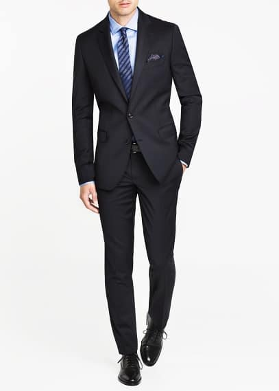 Pinstripe tailored blazer