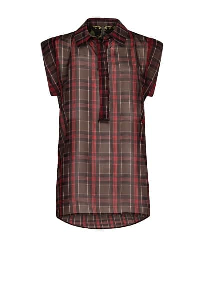 Plaid lightweight top