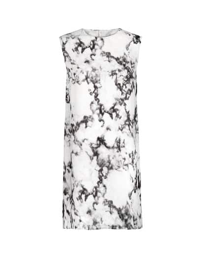 PREMIUM - Marble print chiffon dress