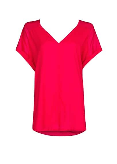 DOUBLE V-NECK T-SHIRT