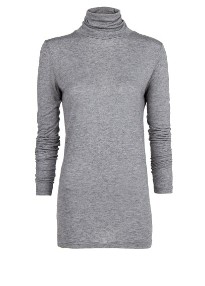 Turtleneck wool-blend t-shirt