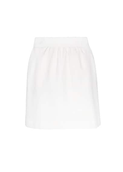 Textured cotton-blend skirt