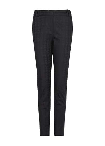 Textured houndstooth trousers