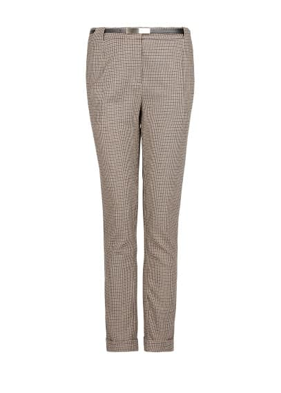 Slim-fit houndstooth trousers