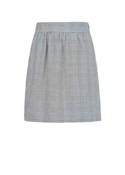 Prince of Wales flared skirt