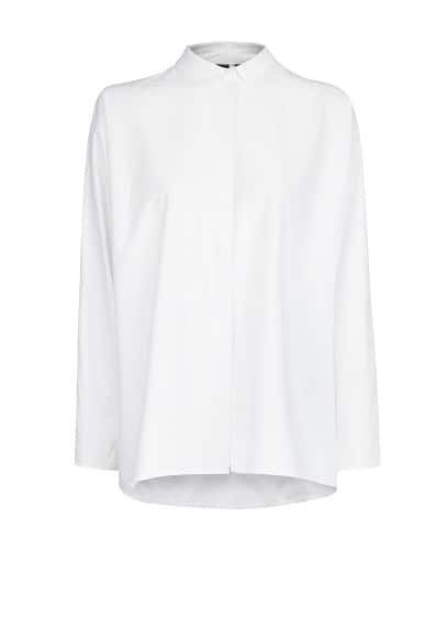 Boxy cotton shirt