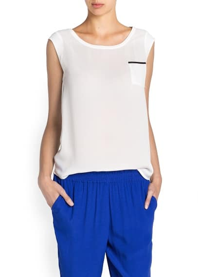 Cap sleeved sheer t-shirt