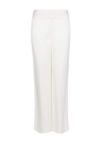Satin finish palazzo trousers