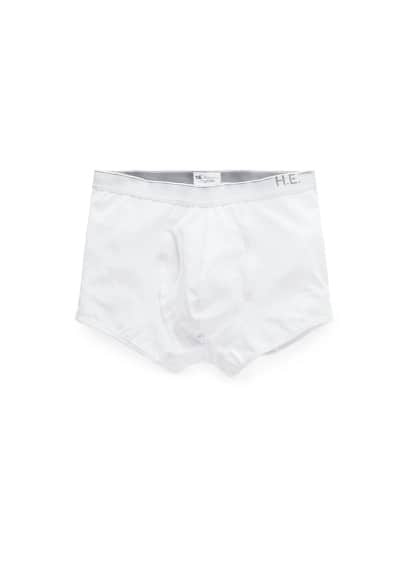 Logo cotton boxer briefs