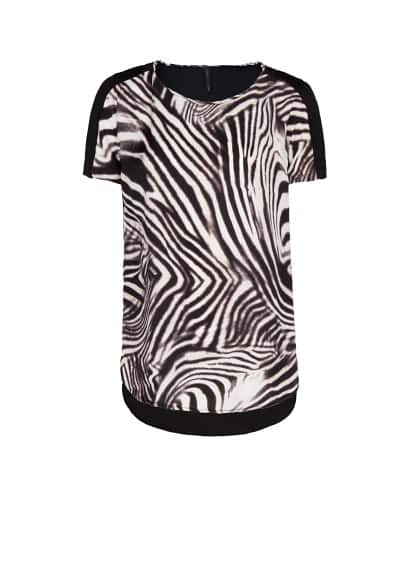 Top estampado zebra