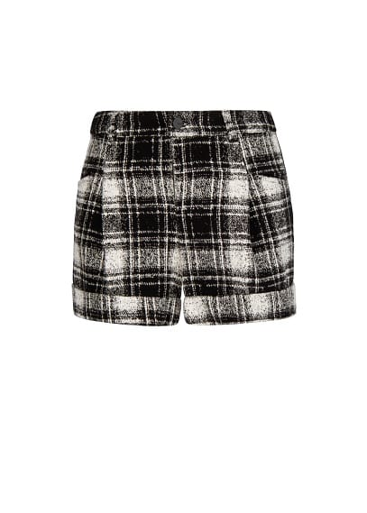 High waist check shorts