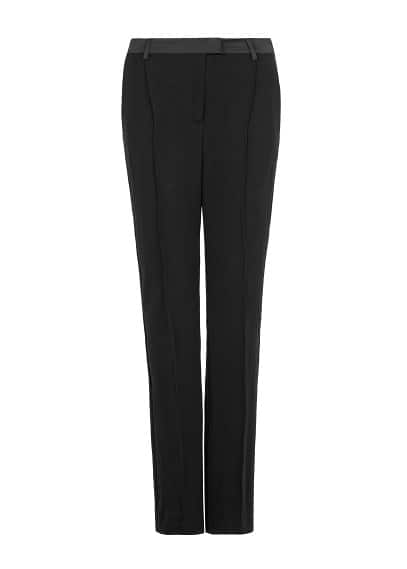 PREMIUM - Satin trim flared trousers