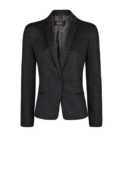 Animal textured blazer