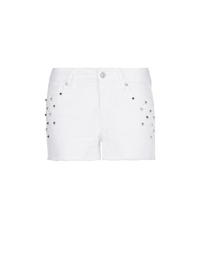 SPIKES DENIM SHORTS