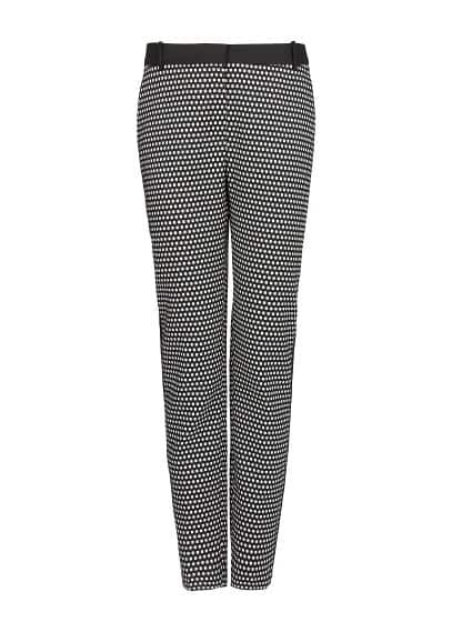 Geometric jacquard trousers