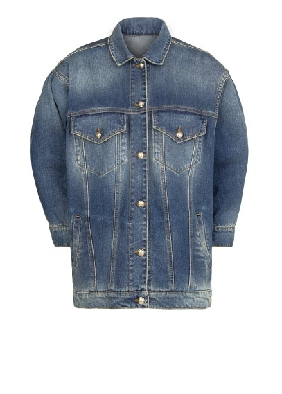 Dark wash oversize denim jacket