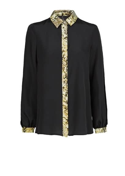 Snakeskin detail shirt