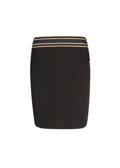 Metallic detail bodycon skirt
