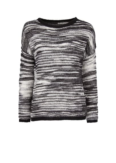 Monochrome open work sweater