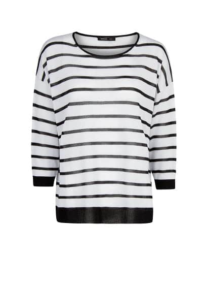 Metallic detailing striped sweater