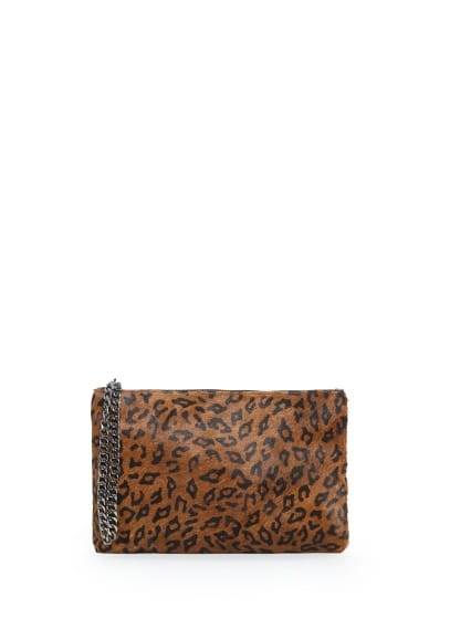 Clutch pelo animal print