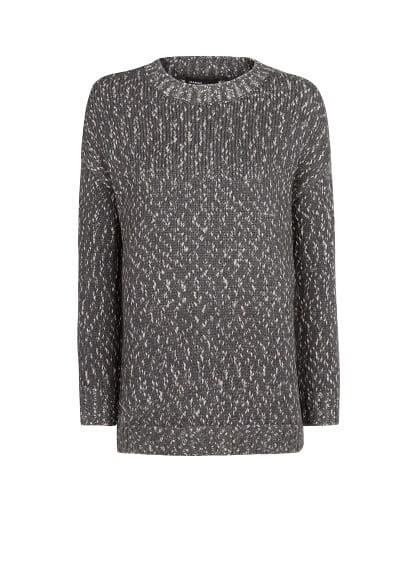 Metallic details mohair sweater