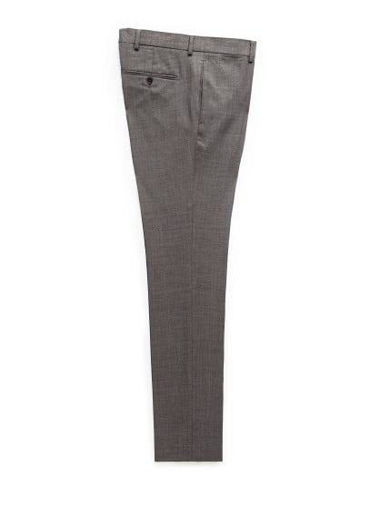 Bird's eye suit trousers